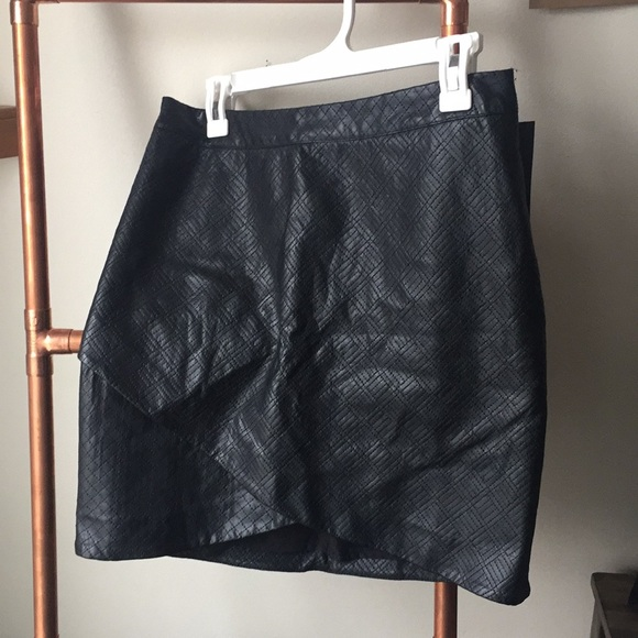 0e63e43f96773 Target Mossimo Faux Black Leather Skirt